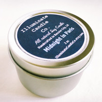Midnight in Paris Soy wax Candle,Soy Candle Tin, Scented Soy Candles, Hand Poured Soy Candles, Soy Candles Handmade