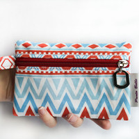 Marine, multiple use case, coin purse, zipper pouch, card holder, phone case, camera case, designer fabrics, stocking filler