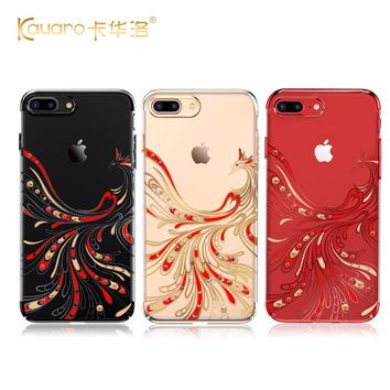 KAVARO Red Phoenix Hard PC Diamond Case Cover For iPhone 7 8/ 7 Plus 8 Plus With Crystals from Swarovski Rhinestone Phone Cases
