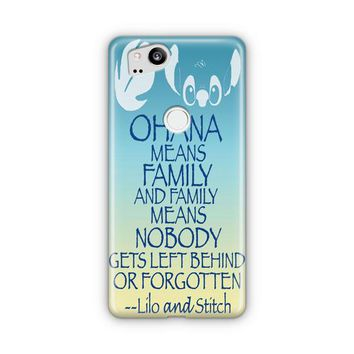 Ohana Means Family Lilo And Stitch Google Pixel 3 XL Case | Casefantasy