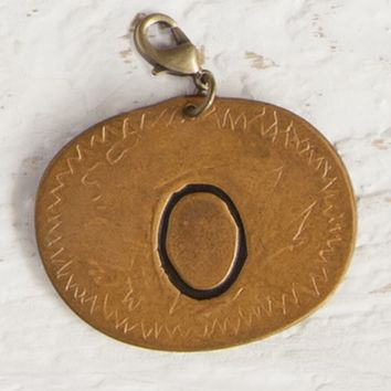 """O""  Junk  Market  Copper  Initial  Charm  From  Natural  Life"