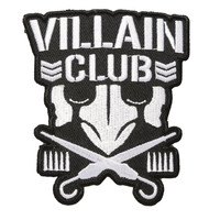 New Japan Pro-Wrestling Bullet Club Villain Club Iron-On Patch