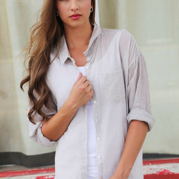 Little Lady Striped Button Up