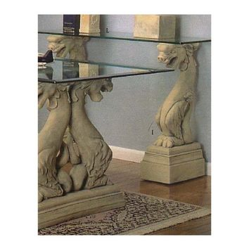 Dragon Fierce Console Table Base Pair 33H