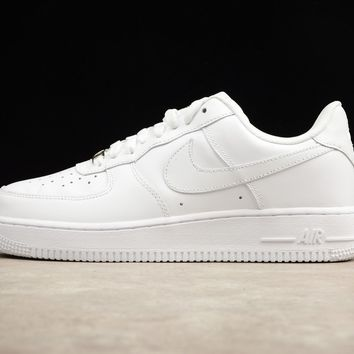 Originals Nike Air Force One 1 Low All White AF1  07 315122-111 39a694ee7206