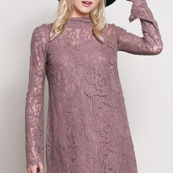 """Luxe"" Lace Shift Dress"