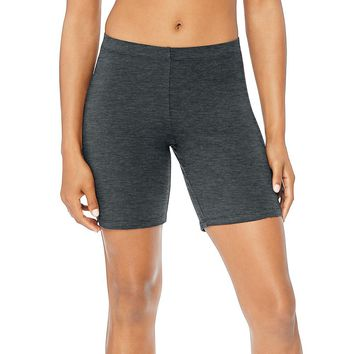 Hanes Women's Stretch Jersey Bike Shorts Style: O9291-Charcoal Heather S