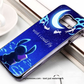 Hawaiian Culture In Stitch-Peter Pan Flying Quote Samsung Galaxy S6 and S6 Edge Case