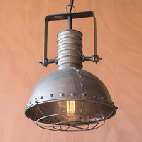 Riveted Caged Pendant Lamp