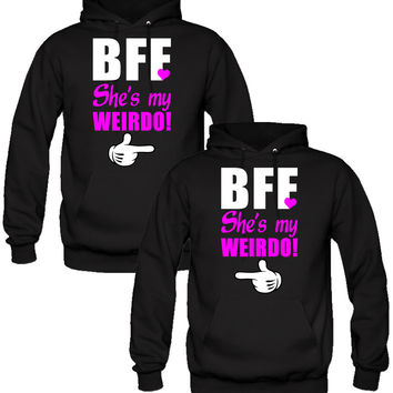 She's My Weirdo Hoodies