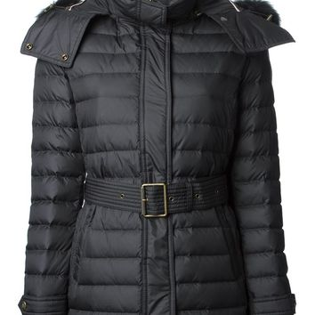 Burberry Brit fisher trim padded coat