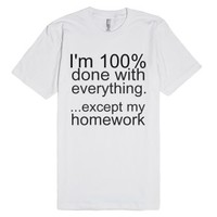 Homework-Unisex White T-Shirt