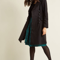 Hell Bunny Frosted Elegance Fit and Flare Coat