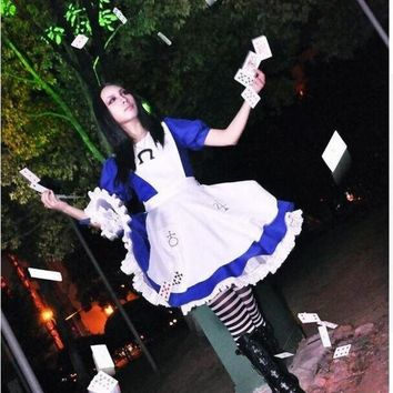 VONEGQ Alice Madness Returns cosplay costume halloween costumes hysteria dress for women and girls Custom made any size