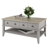 Ameriwood Home Newport Coffee Table, Light Gray/Light Brown - Walmart.com