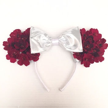 Floral Mickey Mouse Ears Headband