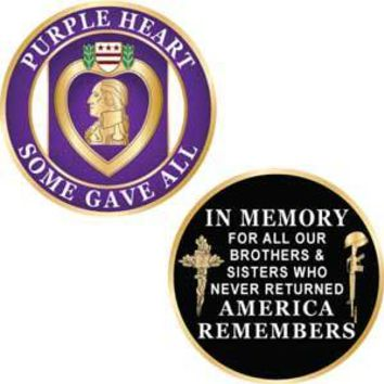 Challenge Coin, Purple Heart