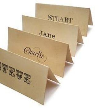 Personalised Place Cards Vintage Style