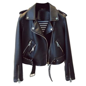 Fitaylor Women's Faux Leather Lady Bomber Motorcycle Jacket/Coat
