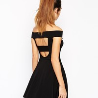 ASOS Bardot Mini Skater Dress