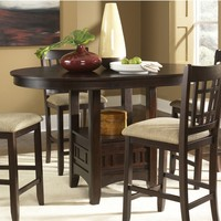 Liberty Furniture Santa Rosa Merlot Counter Height Dining Table | www.hayneedle.com