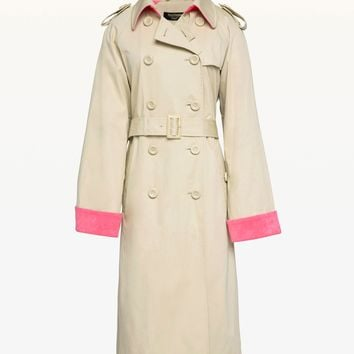 Microterry Lined Trench Coat