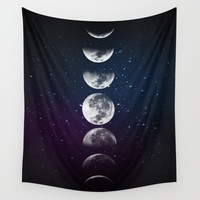 Phases of the Moon Wall Tapestry by Lady Violet