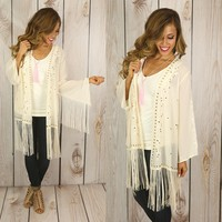 You're A Fine Girl Fringe Cardigan