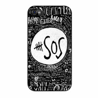 5Sos Logo And Lyrics The Music Band iPhone 4 Case