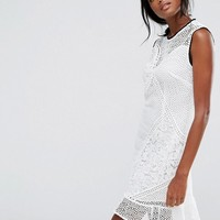 Whistles Cassie Mix & Match Lace Dress at asos.com