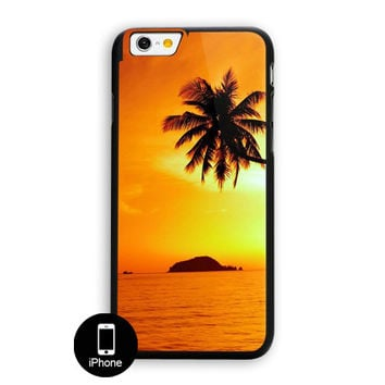 Tropical Paradise Sunset Palm Trees iPhone 6 Case