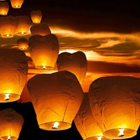 10 Flying Chinese fire resistant paper Lanterns / wishing lanterns / Chinese lanterns / wedding lanterns
