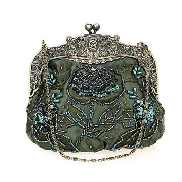 2016 New Vintage Beaded Evening Bag Embroidered Bag Diamond Sequined Clutch Hand Bag Bride Bag  Free Shipping