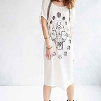 4th & Rose French Terry Tee Dress- Ivory