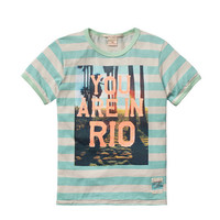 Scotch Shrunk Boys Stripe Ringer Tee with Photo Print Artwork - 1441-03.51511 - FINAL SALE