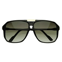 Large Retro Nerd Square Aviator Block Sunglasses 2841