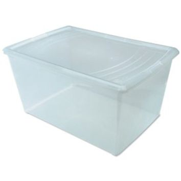 Clear Plastic Box - Large Deep