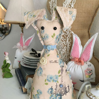 Farmhouse rabbit, easter bunnies, easter decorations, easter basket bunnies