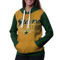 Dallas Stars Ladies Divisional Pullover Hoodie - Gold