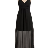 open back chiffon halter maxi dress