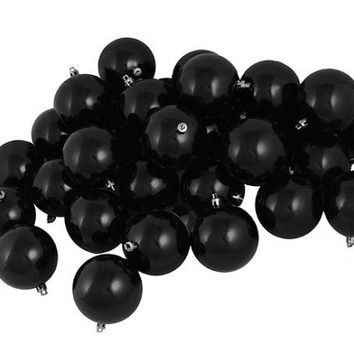 "60 Christmas Ball Ornaments - 2.5 ""  - Black"