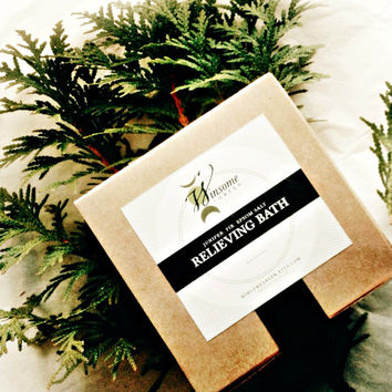 Gift Set Bath Tea for Muscle Relief  winter soak detox aromatherapy herbal all natural essential oils theteam