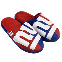 New York Giants Official NFL Youth 8-16 Split Color Slide Slipper