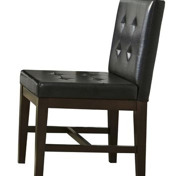 Athena Transitional Dining Uph Chairs (Set Of 2) Dark Chocolate