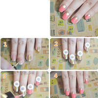 1/5/10 Sheets Polished Manicure Nail Art Tips Tape Sticker Stencil Accessories l