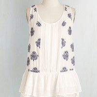 Festival Mid-length Sleeveless Peplum Cakewalk-A-Thon Top