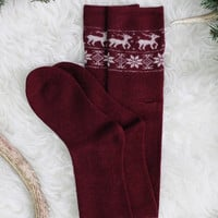 Snow Drive Knee High Socks