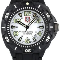 Luminox Men's 0207.SL Sentry 0200 Series Black/White Polymer Watch