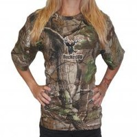 BuckedUp Shortsleeve Realtree APG Camo with Orange Logo