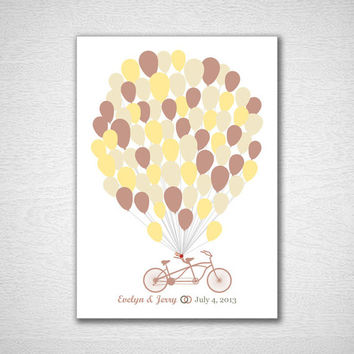 Unique Wedding Guest Book Wedding Guest Book Tree Guest Book Poster Alternative Balloon Wedding Guestbook Print for 75 Guest Wedding Poster